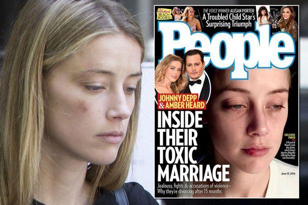 Amber Heard pobita okładka People